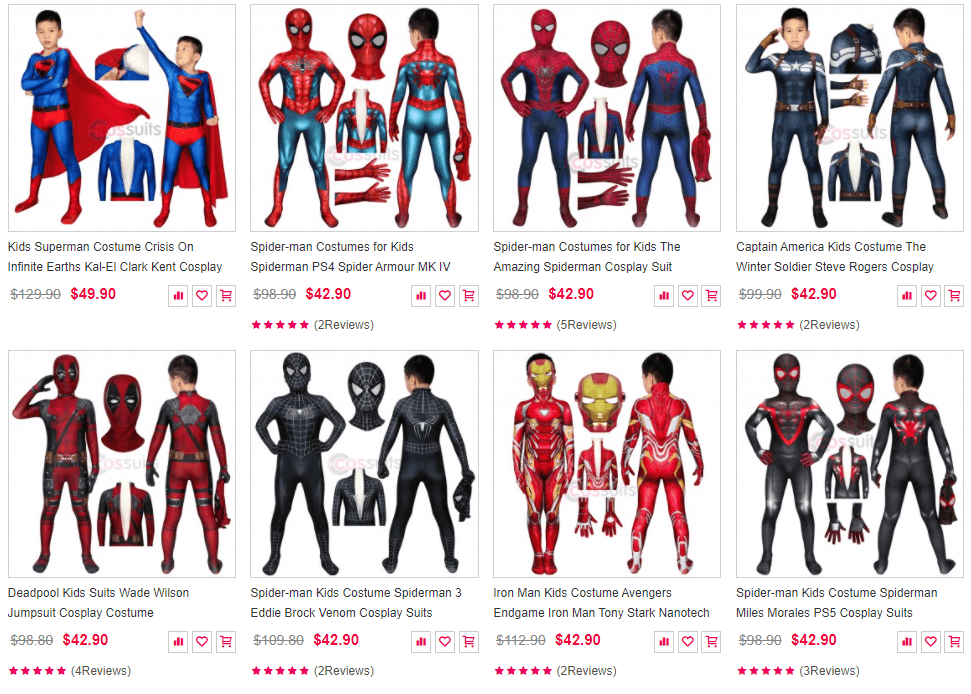 Spiderman Costumes For Your Children